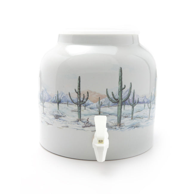 Bluewave Winterly Solitude Design Beverage Dispenser Crock