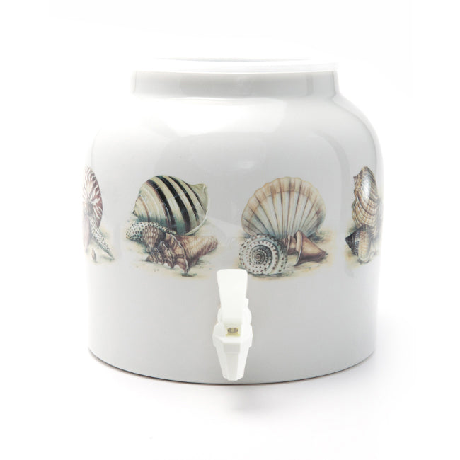 Bluewave The Charm of Shells Design Beverage Dispenser Crock