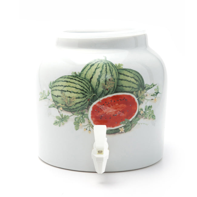 Bluewave Watermelons Design Beverage Dispenser Crock