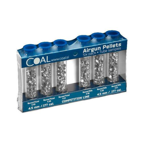 Coal 6 pack sampler Competition Line 0.177 Cal(4.5mm) Airgun Pellets - Kovibazaar