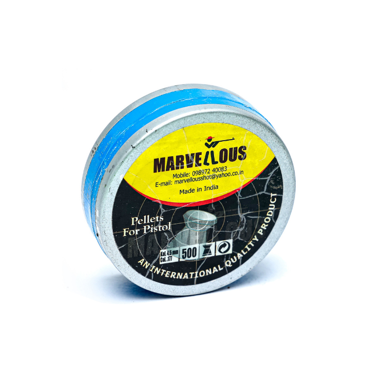 Marvellous Diana Shot Flat Head (0.177Cal/4.5m) 500/Tin( Imported Lead)8.9 gr Airgun Pellets - Kovibazaar