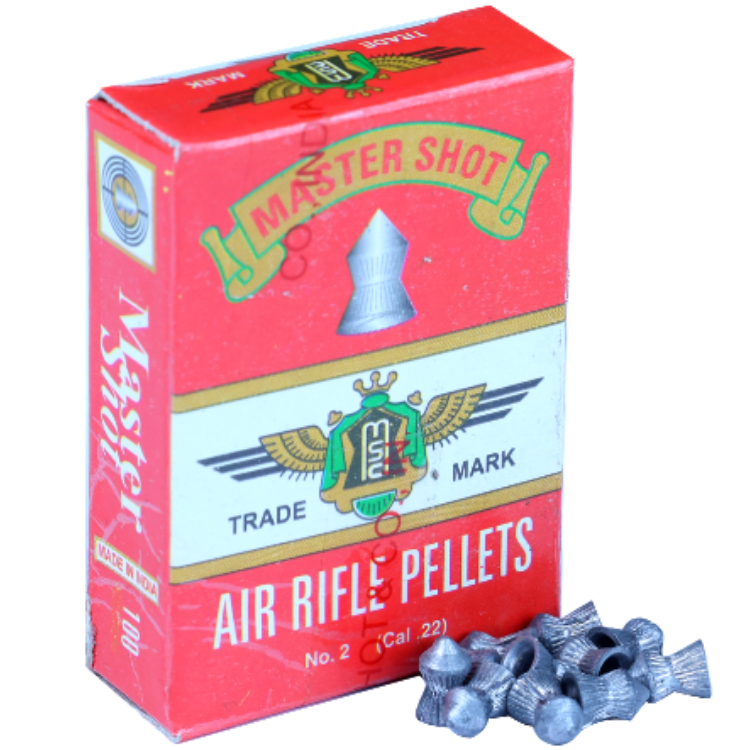 Master Shot Famous Pointed  0.22(5.5mm) {3 Pack Combo} Airguns Pellets - Kovibazaar
