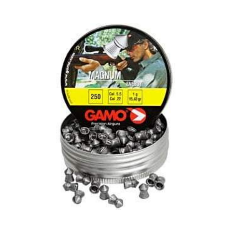 Gamo Magnum Airgun Pellets (0.22cal/5.5mm), 15.43gr, 250/Tin Airgun Pellets - Kovibazaar