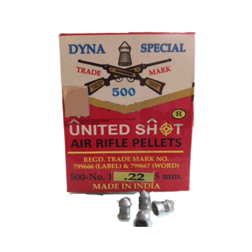 United Shot Dyna Special Pointed (0.22cal/5.5mm) 500/Tin Airgun Pellets - Kovibazaar