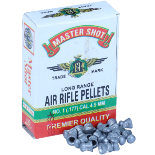 Master Shot Premier Round Head  0.177(4.5mm) [5 Pack Combo] Airguns Pellets - Kovibazaar