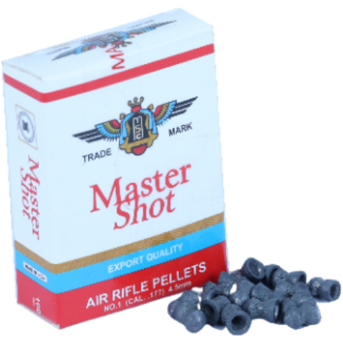 Master Shot Export Quality Roundhead  0.177(4.5mm) [5 Pack Combo]  Airguns Pellets - Kovibazaar