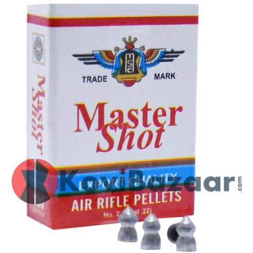 Master Shot Export Quality Pointed 0.22(5.5mm)16.7gr [3 Pack Combo] Airguns Pellets - Kovibazaar