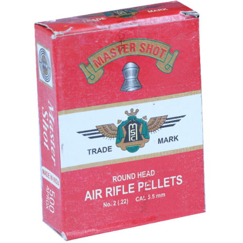 Master Shot Famous Rounded  0.22(5.5mm) 500/Tin AIRGUN PELLETS - Kovibazaar