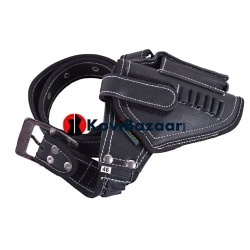 Police Style 32 Pistol Holster With Sling, In Leatherette - Kovibazaar