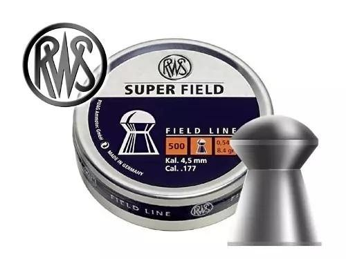 RWS SUPER FIELD 0.177 Cal(4.5mm),0.54g/8.4gr, 500/tin Airgun Pellets - Kovibazaar