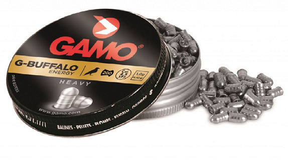 Gamo G-BUFFALO (0.177Cal/4.5mm)15.42gr Airgun Pellets - Kovibazaar