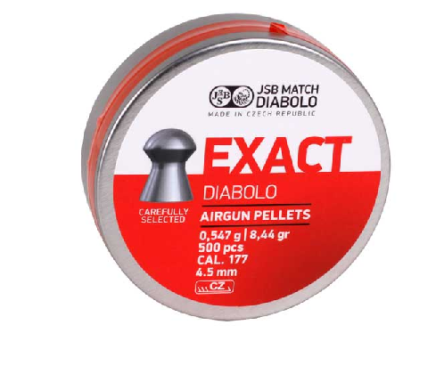 JSB Exact Diabolo  .177 Cal, 8.44Grains/0.547g, Domed, 500ct Airgun Pellets - Kovibazaar