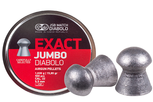 JSB Diabolo Exact Jumbo .22 Cal, 18.13 Grains, Domed, 500ct Airgun Pellets - Kovibazaar