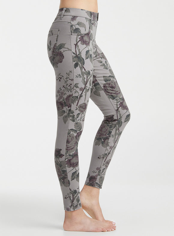HUE FADED FLORAL GREY
