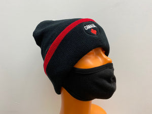 Winter Hat Canada Black/Red