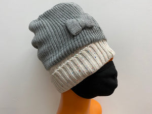 Winter Hat lurex Front Bow
