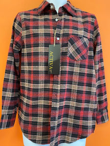 Men's Plaid Shirt Red/Brown Check