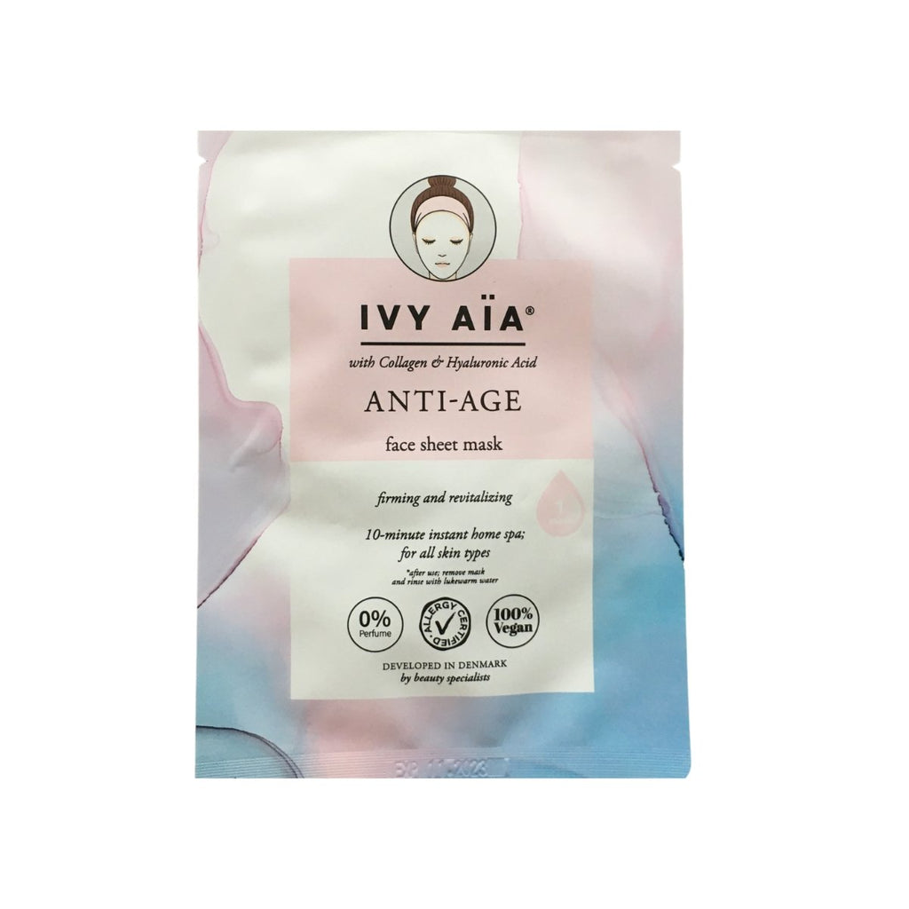 AïA Anti-Age Face Sheet Mask - Nulallergi.dk