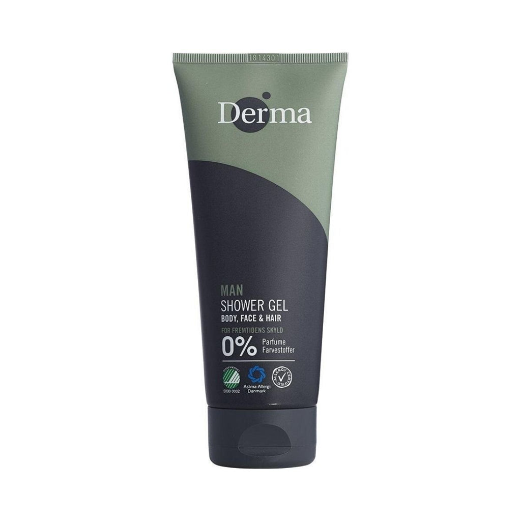 Derma Man Shower Gel 3in1 - Body, Face & Hair - Nulallergi.dk