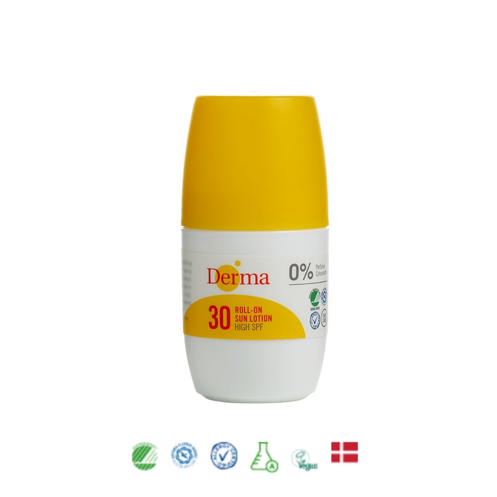 Derma Roll-on Sollotion SPF 30, 50 ml - Nulallergi.dk