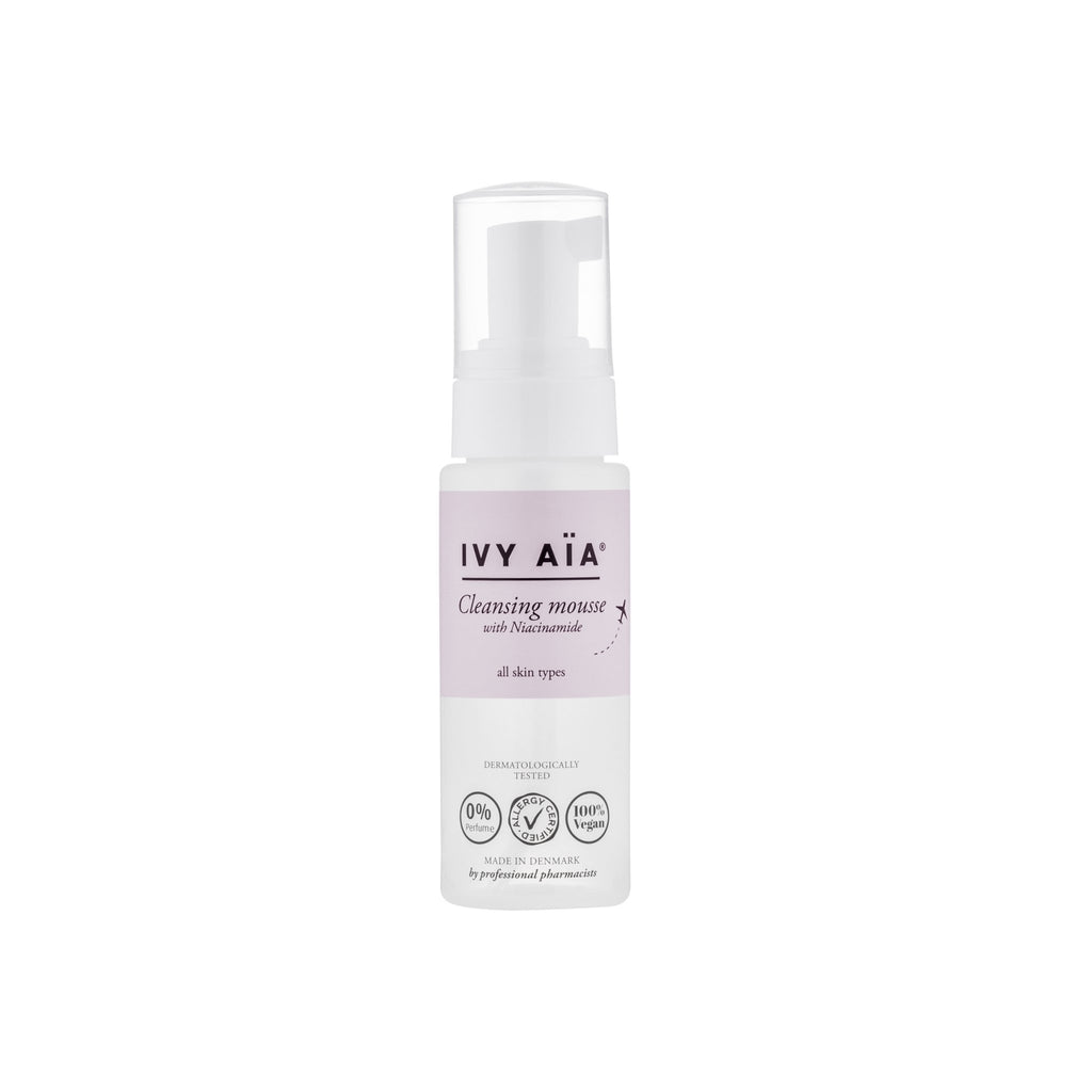 IVY AïA Cleansing Mousse with B3, Travel Size, 50 ml. - Nulallergi.dk