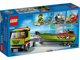 LEGO City - Rennboot-Transporter