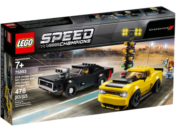 LEGO Speed Champions - 2018 Dodge Challenger SRT Demon and 1970