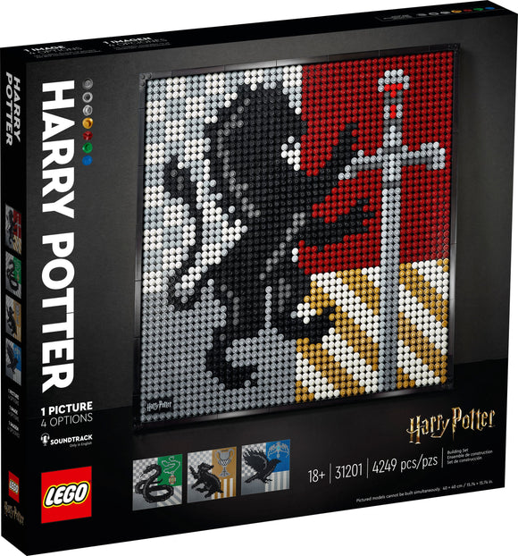 LEGO Wall Art - Harry Potter™ Hogwarts™ Crests