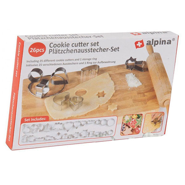 Cookie cutter sset 26pcs Alpina 25mm cb