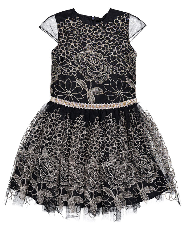 DAVID CHARLES GIRLS DRESS BLACK