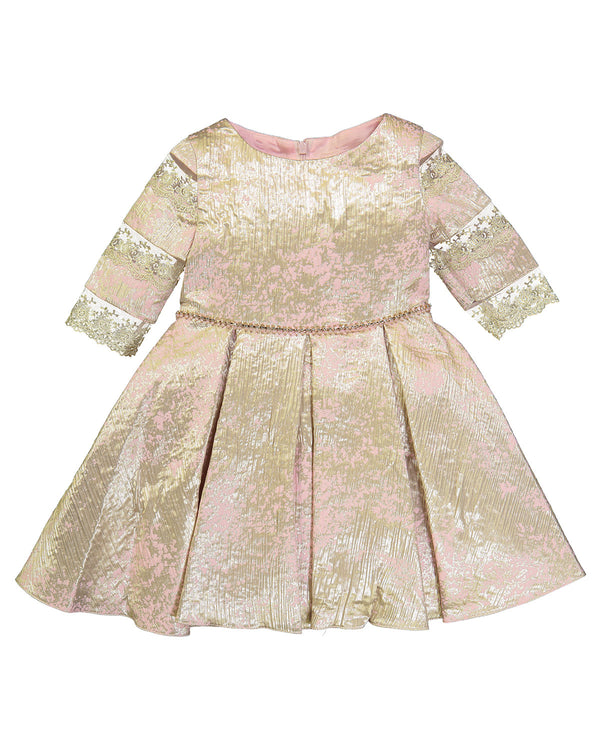 DAVID CHARLES GIRLS DRESS PINK