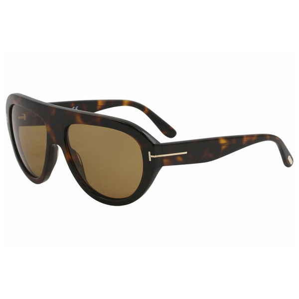 Tom Ford Men's Havana Fashion Pilot 59mm Sunglasses