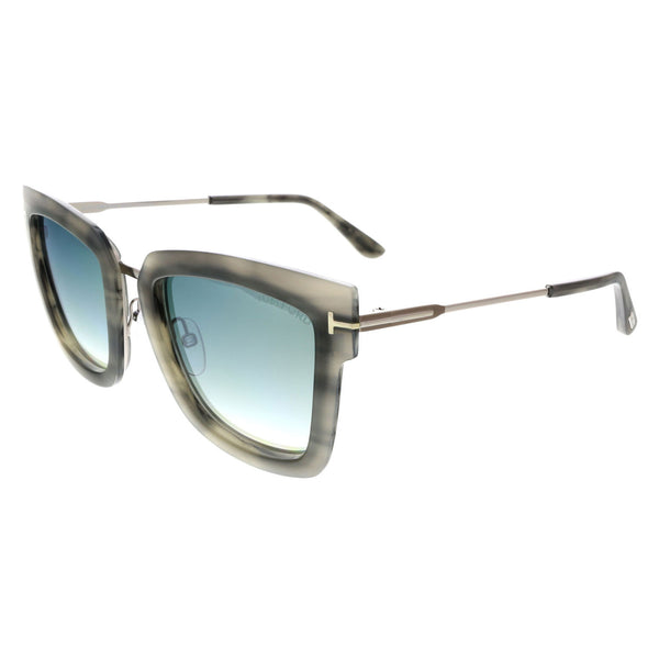 Tom Ford 52mm Square Butterfly Grey Melange Sunglasses