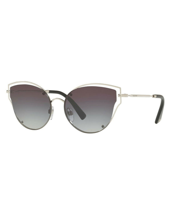 Valentino Silver/Smoke Shaded 58mm Sunglasses