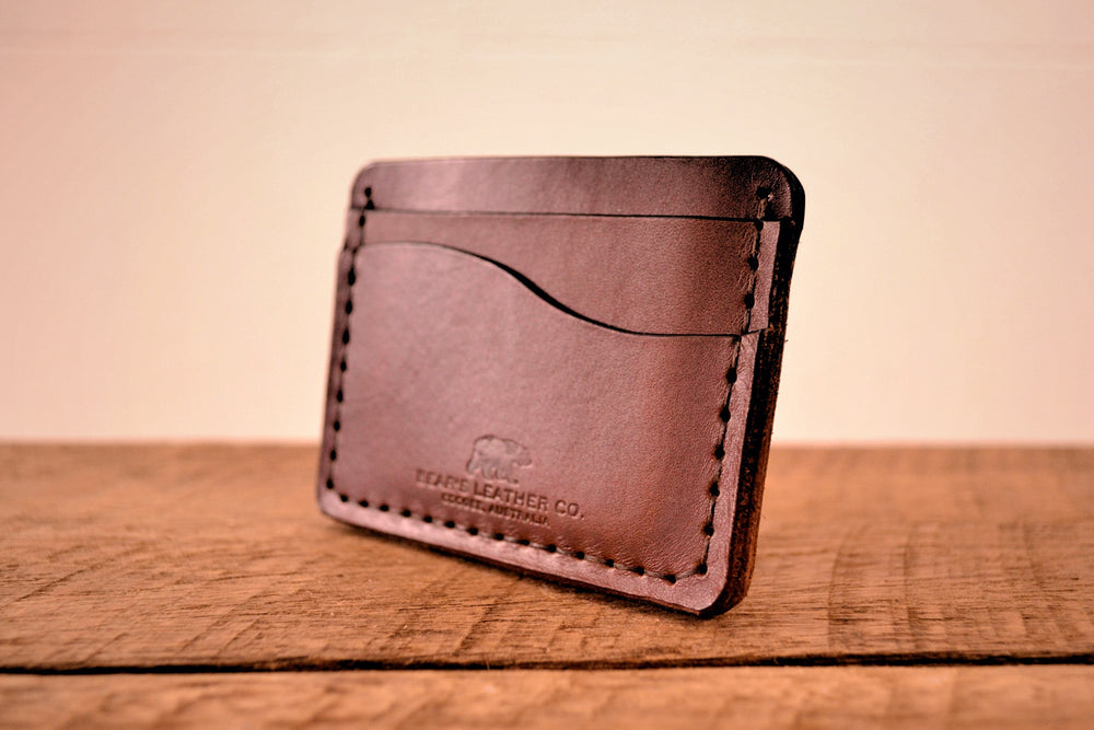 Slim Cardholder Wallet - Dark Brown