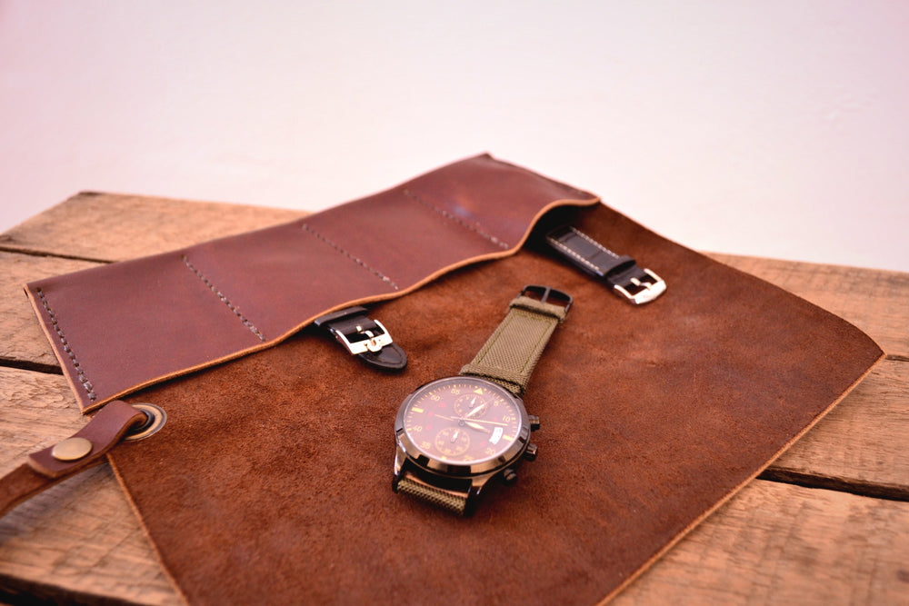 Watch Roll - Harness Brown