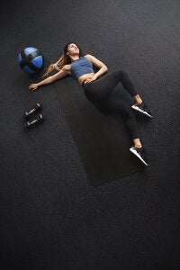 lay down for some ab work