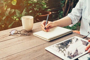 notebook of ideas for local marketing