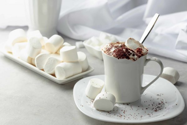 cup of hot cocoa with marshmallows