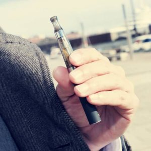 vaping device with CBD oil