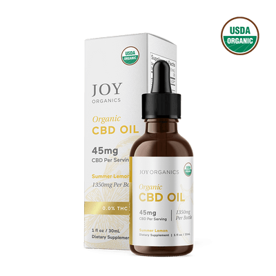 Summer Lemon Organic CBD Tincture (Broad Spectrum)