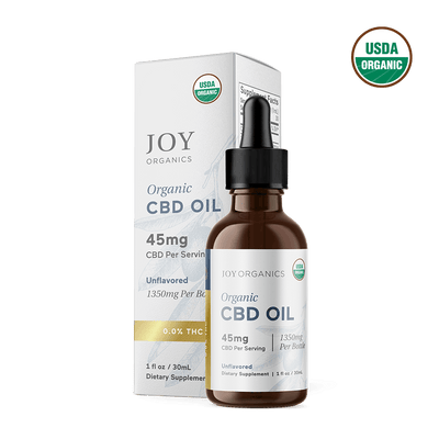 Unflavored  Oil Tincture Organic CBD Broad Spectrum (0.0% THC)