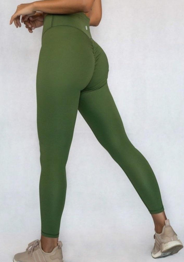 L'Couture Skin Scrunch Bum Legging Olive - L'Couture Collections