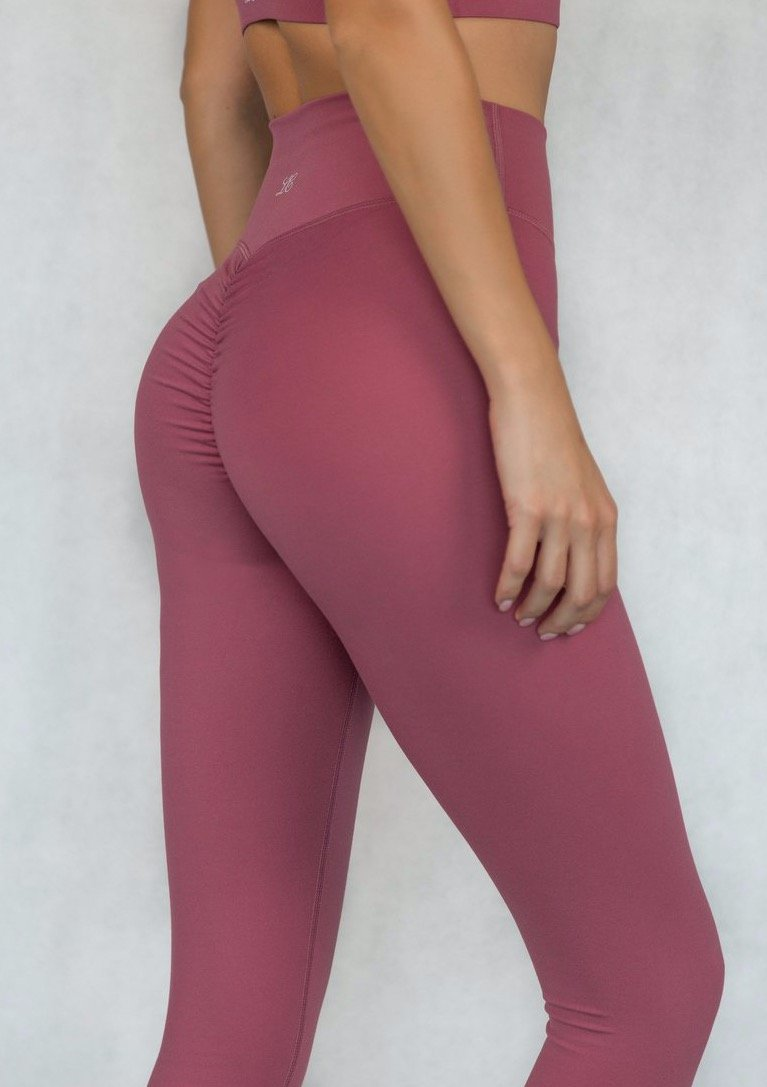 L'Couture Skin Scrunch Bum Legging Rose Pink - L'Couture Collections