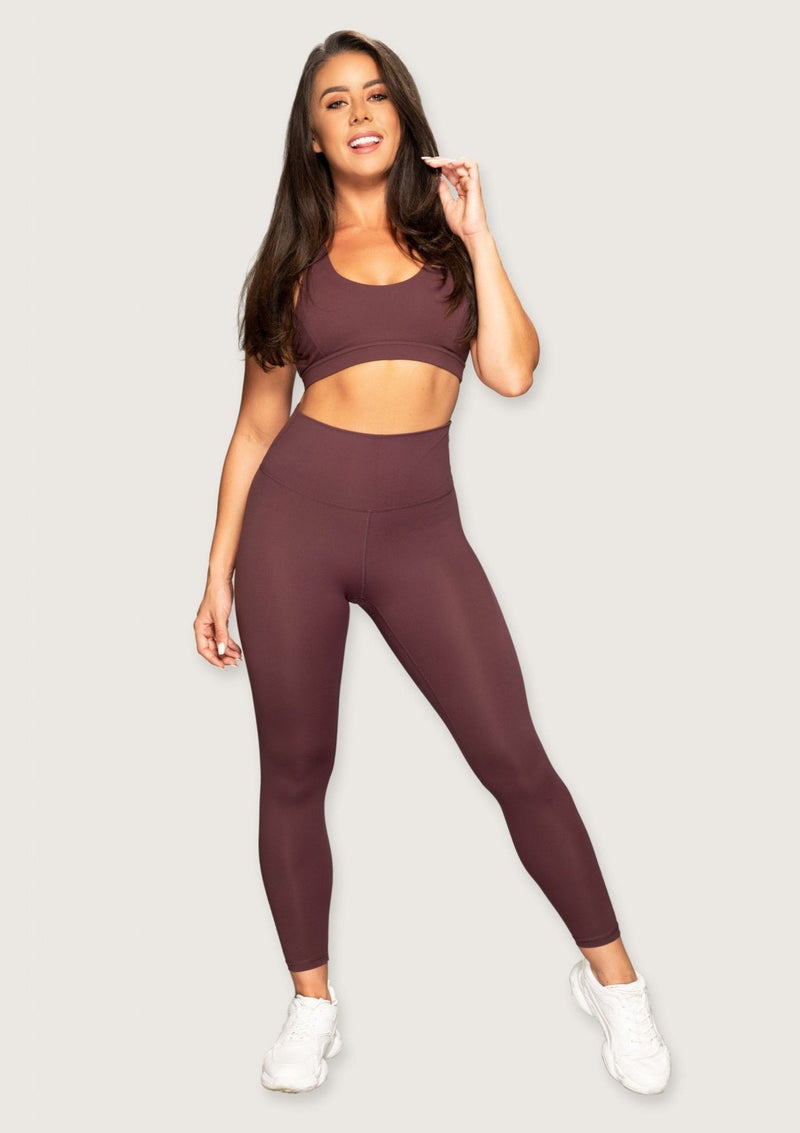 L'Couture Starlet High Waist Legging Plum - L'Couture Collections
