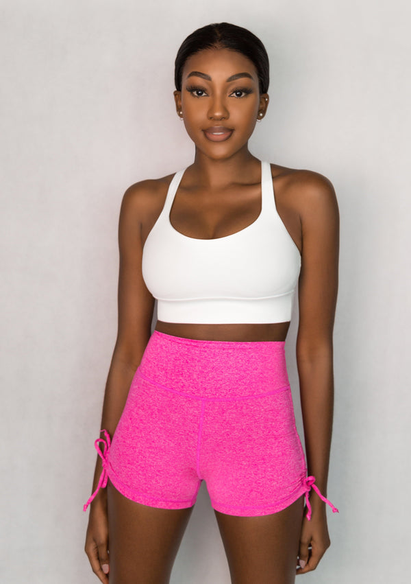 L'Couture Candy Scrunch Bum Short Heathered Pink - L'Couture Collections