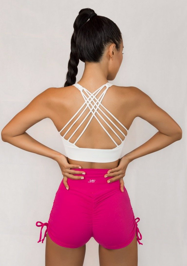 L'Couture Candy Scrunch Bum Short Hot Pink - L'Couture Collections