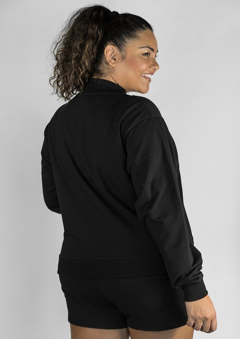 L'Couture Lounge Logo Sweatshirt Black - L'Couture Collections