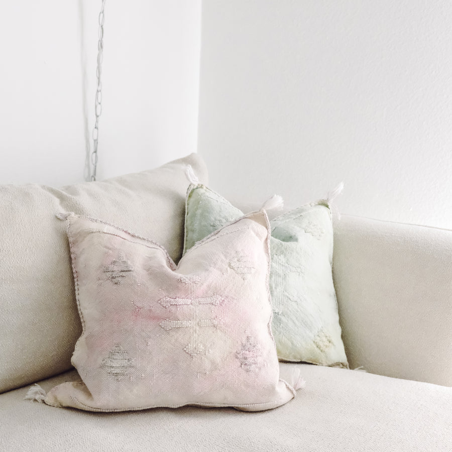 Sun Bleached Cactus Silk Pillow