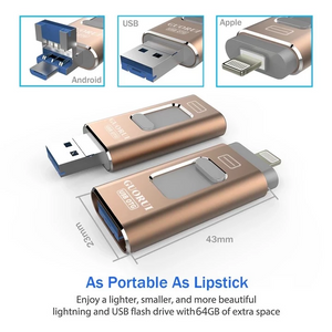 FLASH DRIVE FOR IPHONE, IPAD & ANDROID